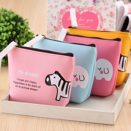 Wholesale Girl S Purses - Multifunctional Cartoon Storage Bag PU Zipper Penny Organizer Mini Coin Purse Key Bag For Ladies Girls