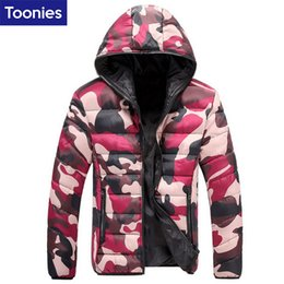 Куртка онлайн-Wholesale- Winter Down Jacket Parka Men Camouflage Doudoune Homme Hiver Marque Fashion Coat Homme  Clothing Abrigos Hombres Invierno