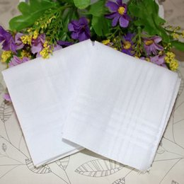 Wholesale Towel White Hands - Male White Handkerchiefs Hand Towel Gentleman Square Pocket Super Soft Whitest Squares 34cm for Banquet Party Use Elegant Good Man 2017 Hot