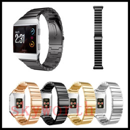 Wholesale Processing Metal - For Fitbit Ionic Watch Band Stainless Steel Metal Watch Strap Unique Polishing Process Business Replacement Wristband watchband