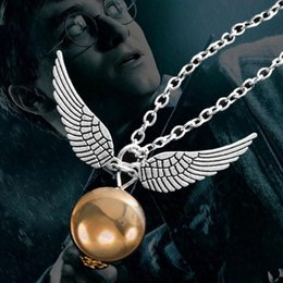 Wholesale Silver Deathly Hallows Pendant - Harry Potter and the Deathly Hallows of the same section of the necklace gold flying thief sweater chain European and American trade jewelry