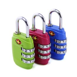 Wholesale Tsa Digit Padlock - 12pcs lot Digit Combination Padlock Suitcase Travel Lock TSA Locks Luggage Padlock Lock Padlock Free shipping