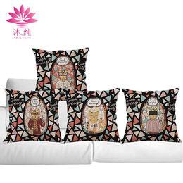 Wholesale Decorative Bohemian Pillows - muchun Brand Bohemian Style 45cm*45cm Christmas Linen Square Halloween Party Pillow Cover Home Decorative Pillow Case