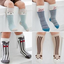 Wholesale Girls Socks Years Old - Hot Sell Adorable Toddler Baby Knee Length Cartoon Socks Fox Panda Mouse Rabbit Socks Little girls Sweet Socks For 0-6 Years Old Kids Q0883