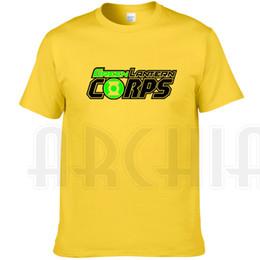 Wholesale Green Flash Film - Green Lantern T shirt Super hero short sleeve gown Film printing tees Leisure clothing Unisex cotton Tshirt