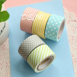 Wholesale Wholesale Sticky Dots - Wholesale- 2016 Kawaii dot series masking paper tape, Sticky notes set,gift Office school supplies(ss-a789)