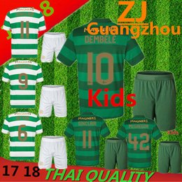 Wholesale Children Shirts Winter - Kids set 2017 2018 Scotland Celtic jersey 17 18 Home away DEMBELE GRIFFITHS LUSTIG BROWN youth child kits shirt