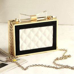 Wholesale Mini Handbag Perfumes - Wholesale-Mini Women Evening Bags Purse and Handbags Day Clutches Acrylic Bow Channel Perfume Bottle Box Bag Ladies Luxury Brand Designer