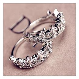 2019 coroas para rainhas Moda princesa prata strass rainha coroa anel tamanho 7 8 9 anéis de casamento 925 anéis de prata esterlina desconto coroas para rainhas