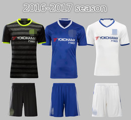 Wholesale Chelsea Soccer Name Number - Thai quality soccer jerseys Chelsea home away third shirt 2016 2017 mens blue lion cheap football club set custom name number mix order