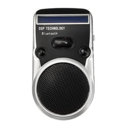 Wholesale High Quality Car Microphone - Wholesale- High Quality Solar Powered Bluetooth Handsfree Car Kit Digtal LCD Speaker With Microphone For Mobile Phones Dial