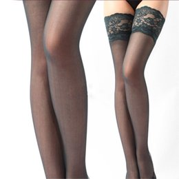 Wholesale Nude Tights Wholesale - Wholesale- TD Fashion Gifts Fashion New Women Silk Stockings Pantyhose Over Knee 65cm Long Sexy Slim Tights Black Nude White 15 Colors