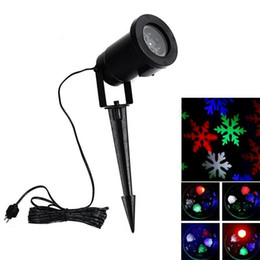 Wholesale Led Snow - Outdoor Christmas LED snowflake garden lights White and RGB snow Laser lights lawn lamp for garden Lighting home decoration holiday light