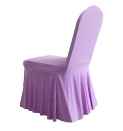 Wholesale Spandex Chair Covers For Cheap - Good Looking Bottom Ruffled Lycra Spandex Chair Cover Cheap Wedding Chair Covers Ruffled Lycra Spandex Chair Cover For Wedding Decoration