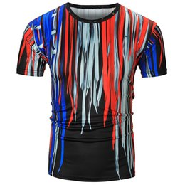 Wholesale Collar Blouse Neck Designs - New Tshirt Designs The New Digital Printed Short-sleeved T-shirt Creative Colored Round Collar 3d 3d Milk Silk Blouse