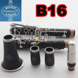 Wholesale Clarinet Cases - Wholesale-High Quality France Buffet Crampon & CIE APARI B B12 B16 B18 S66 the Clarinet with Case   1986 B12 17 key drop B