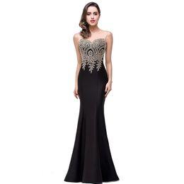 Wholesale Solid Black Mermaid Prom Dress - Women Mermaid Evening Dress for Women Formal Long Prom Dress