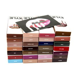 Wholesale New 55 - 2017 NEW 55 Colors Kylie Jenner Lip Kit 1 Set=1 Lipstick + 1 Lipliner Makeup Kylie I want it all birthday Matte Lipstick
