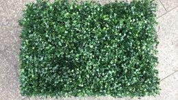 Wholesale Garden Grass Decoration - Artificial plastic boxwood fake foliage grass mat UV protect buxus Milan grass mat for shop home garden wall decoration 25cm*25cm 40CM*60cm