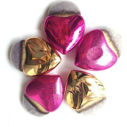 Wholesale Heart Tails - Plating Mermaid Fish Tail Heart Makeup Brush Set Foundation Powder Eyeshadow Make up Brushes Contour Blending Cosmetic Brushes 3001043
