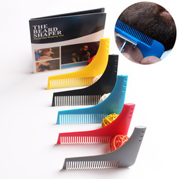Wholesale Men Hair Beard Trimmer - New Comb Beard Shapper Shaping Tools Sex Man Gentleman Trim Template Hair Cut Molding Trimmer Template modelling Beard Comb Tool