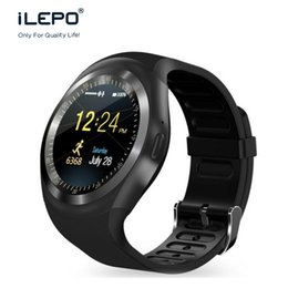 Wholesale Facebook Messaging - Y1 Smart phone watch with bluetooth wirst phone 2017 new trends hot product Nano SIM watch connect to Whatsapp facebook skype