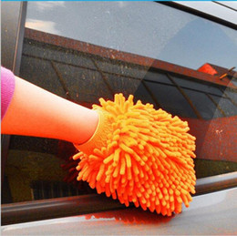 Wholesale Wholesale Microfiber Hand Towels - 500PCS Car Hand Soft Cleaning Towel Microfiber Chenille Washing Gloves Coral Fleece Anthozoan Car Sponge Wash Cloth Car Care Cleaning YYA106