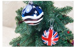 Wholesale Tree Spandex - new Christmas decorations 6cm 6pcs set Christmas tree Decorative Painted balls DIY Party high quality colorful ball Party Supplie wholesale