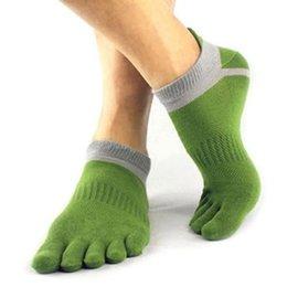 Wholesale Pure Cotton Socks Toes - Wholesale-1 Pair Cotton Toe Sock Pure Five Finger Socks Breathable 6 Colors