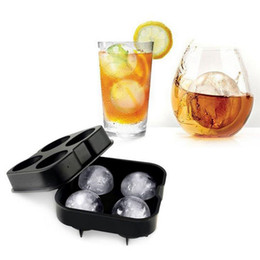Wholesale Ice Brick Moulds - Free DHL hot sale Bar Drink Whiskey Sphere Big Round Ball Ice Brick Cube Maker Tray Mold Mould On Sale Life