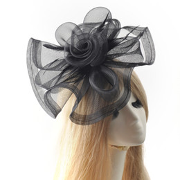 Wholesale Ladies Hair Accessories China - Fashion Decorative Feather Fascinator Women Hair Clip Accessory Elegant Lady Cocktail Wedding Party Hat Hairclip Headwear Handmade Headwear