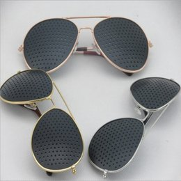 e7b4254f7b Wholesale-2015 Wholesale Vintage Retro Unisex Pinhole Eyeglasses Glasses Eye  Exercise Eyesight Vision Care Improver Pinhole Glasses