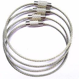 Câble en acier inoxydable Keychain câble clé chaîne mousqueton câble porte-clés porte-clés pour la randonnée en plein air ? partir de fabricateur