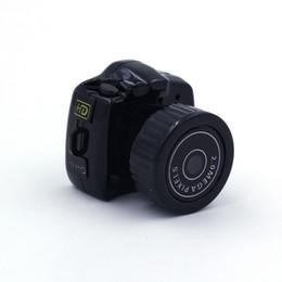 Wholesale Hidden Spy Gb - Mini HD camera Y2000 Video Camera Small Mini Pocket DV DVR Camcorder Recorder Spy Hidden Web Cam