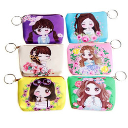 Wholesale Wholesale Leather Small Coin Pouches - Wholesale- 1 x Women cartoon Coin Purse PU Leather children Small Clutch Wristlet lady Wallet Girl Change Pocket Pouch zipper Bag Keys Ca
