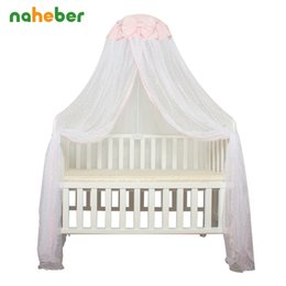 Wholesale Baby Crib Canopy Netting - Wholesale- Baby Crib Mosquito Net For Infants Portable Newborn Cot Folding Canopy Boys Girls Summer Netting Portector