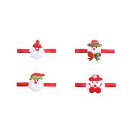 Fasce di capelli occidentali online-Santa Claus Elastic Baby Headband Western Christmas Gift Kids Headwear Christmas Party Dress Decorazione dei capelli