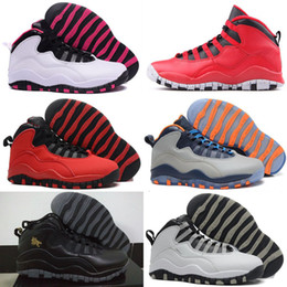 Wholesale Green Chi - Retro 10 Paris NYC CHI Rio LA Hornets City Pack Vivid Pink OVO Men Women Basketball Shoes Sneakers 10s Retro X Sport Shoes