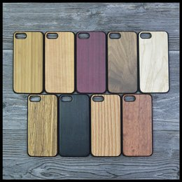 Wholesale Cherry Cans - Genuine Handmade Wood Case For iPhone X 8 7 6 7Plus Can Carving Wooden Phone Shell Maple Bamboo Cherry Walnut Housing Protector Cover