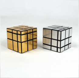 Wholesale Gold Prices Year - 3x3x3 CY Gold   Silver Mirror Cube Magic Cube Black hot selling factory price DHL freeshipping high quality
