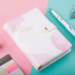Wholesale Ring Binder Notebooks - 2017 Kawaii Notebook Spiral Cute Leather Planner Agenda A6 Ring Binder Traveler Diary Notebooks School Planners Filofax