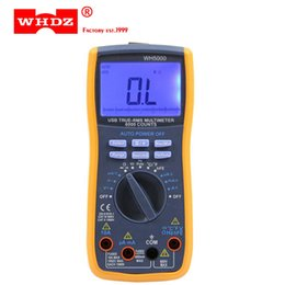Wholesale Digital Interface - DHL 20PCS WHDZ WH5000 Digital Multimeter 5999 Counts with USB Interface Auto Range with Backlight Magnet hang AC DC Ammeter Voltmeter Ohm