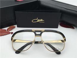 Wholesale Big Black Fashion Eyeglass Frames - CZ986 Eyeglasses Germany Designer MOD986 Optical Vintage Steampunk Style Men Brand Square Big Frame Metal Rectangle Top Quality