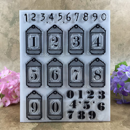 Wholesale Rubber Number Stamps - Wholesale- Various 0-9 Numbers Scrapbook DIY photo cards account rubber stamp clear stamp transparent stamp 14*18 CM
