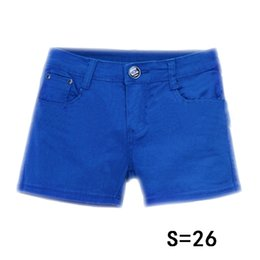 Wholesale Candy Color Jeans - Wholesale- EAS Summer Denim Shorts Slim Fit Candy Color Short Pants Short Jeans Women Shorts Denim
