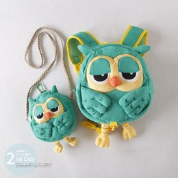 Wholesale Fabric Harness - Backpack   Crossbag shoulder bag Baby Owl Keeper Toddler Safety Harness Backpack Bag Strap Rein Baby Cartoon Anti-lost Walking Bags A7152