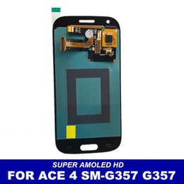 Wholesale Galaxy S Ace - Super AMOLED HD LCD Display For Samsung Galaxy Ace 4 ACE4 SM-G357 G357 G357FZ LCD Genuine Touch Screen Digitizer Assembly