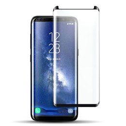 Wholesale Galaxy Note 3d Cases - Top Quality Case Friendly Curved Tempered Glass For Samsung Galaxy S7 edge S8 S8 Plus Note 8 3D Screen Protector With Retail Package