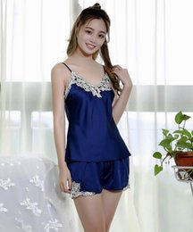 Wholesale Womens Floral Silk Robe - womens Solid royan silk Robe Ladies Satin Pajama Lingerie Sleepwear Kimono Bath Gown pjs Nightgown