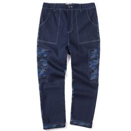 Wholesale Cowboy Clothes For Men - Jeans for Big Men Plus Size Casual Trousers 2017 Autumn Boys Camuflage Print Denim Pants Cowboy Long Trouser Man Clothing A136